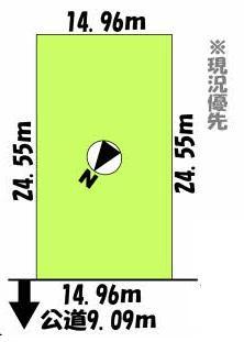 土地価格380万円、土地面積367m<sup>2</sup>