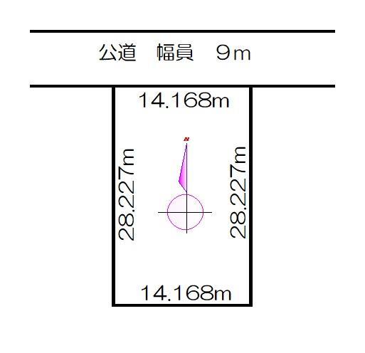 土地価格300万円、土地面積399m<sup>2</sup>