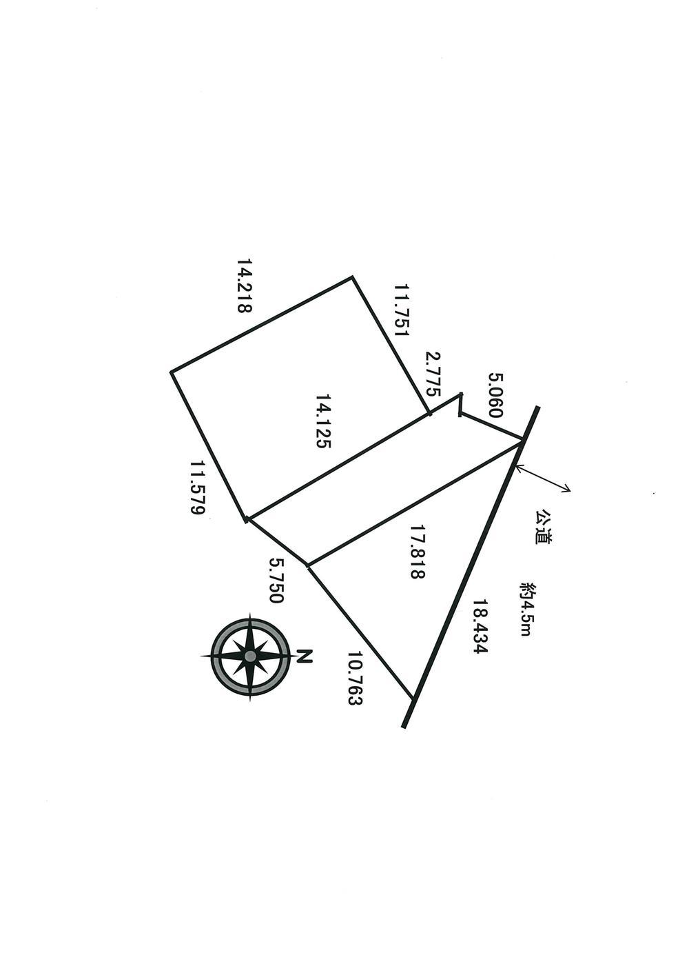 土地価格260万円、土地面積357.25m<sup>2</sup> 区画図