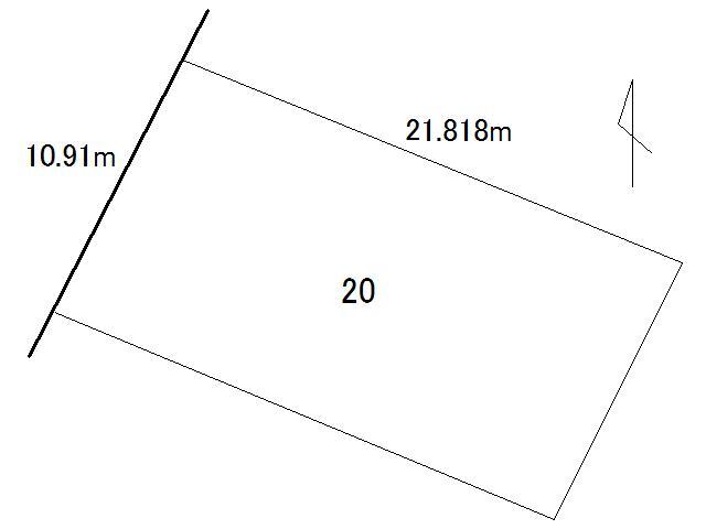 土地価格240万円、土地面積238.05m<sup>2</sup>