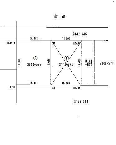 土地価格310万円、土地面積272m<sup>2</sup>