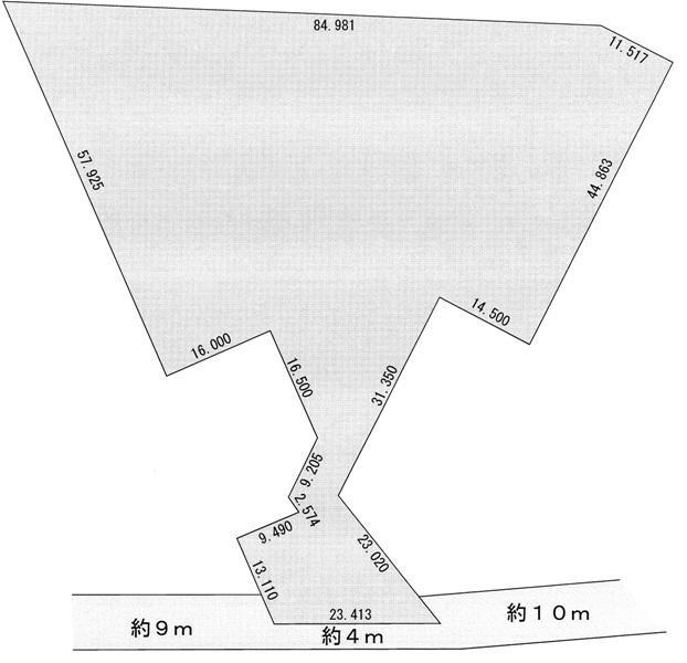 土地価格1480万円、土地面積4989m<sup>2</sup>