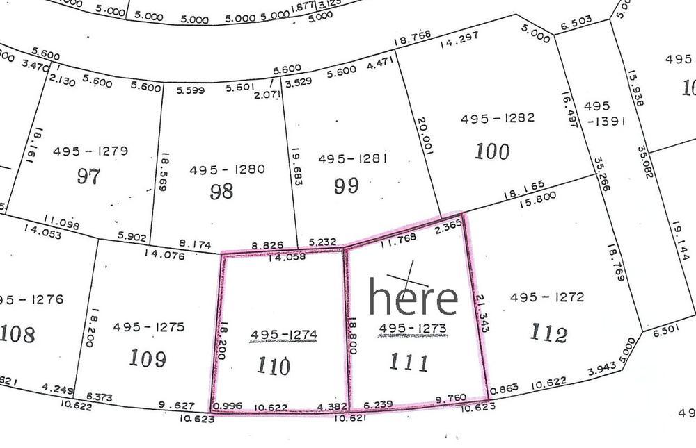土地価格136万5000円、土地面積301.08m<sup>2</sup> hereと書いてあるところの土地をアップしております。