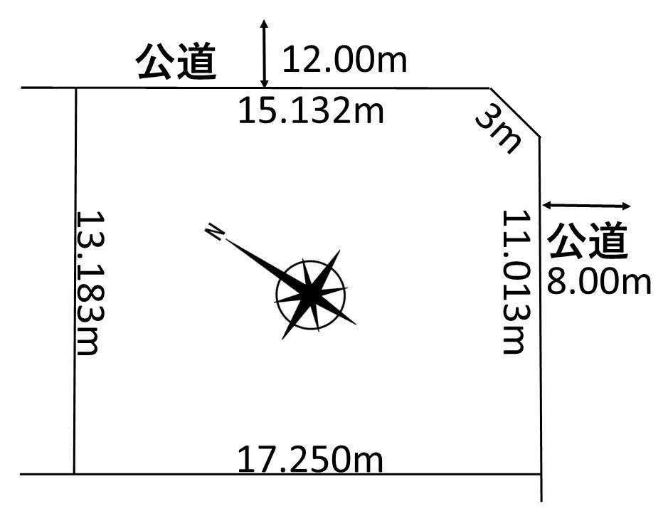 土地価格80万円、土地面積224.71m<sup>2</sup>