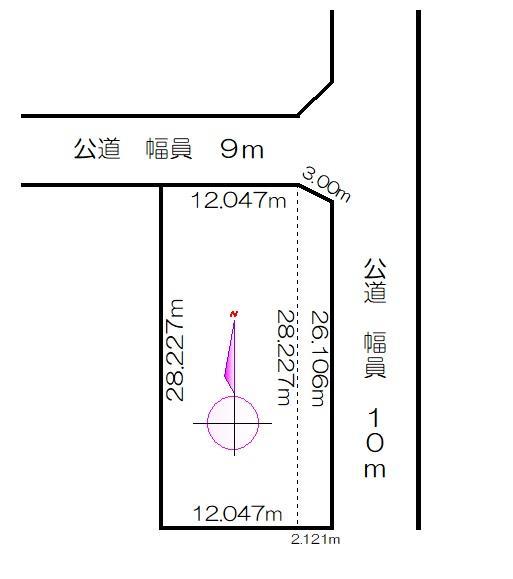 土地価格350万円、土地面積393m<sup>2</sup>