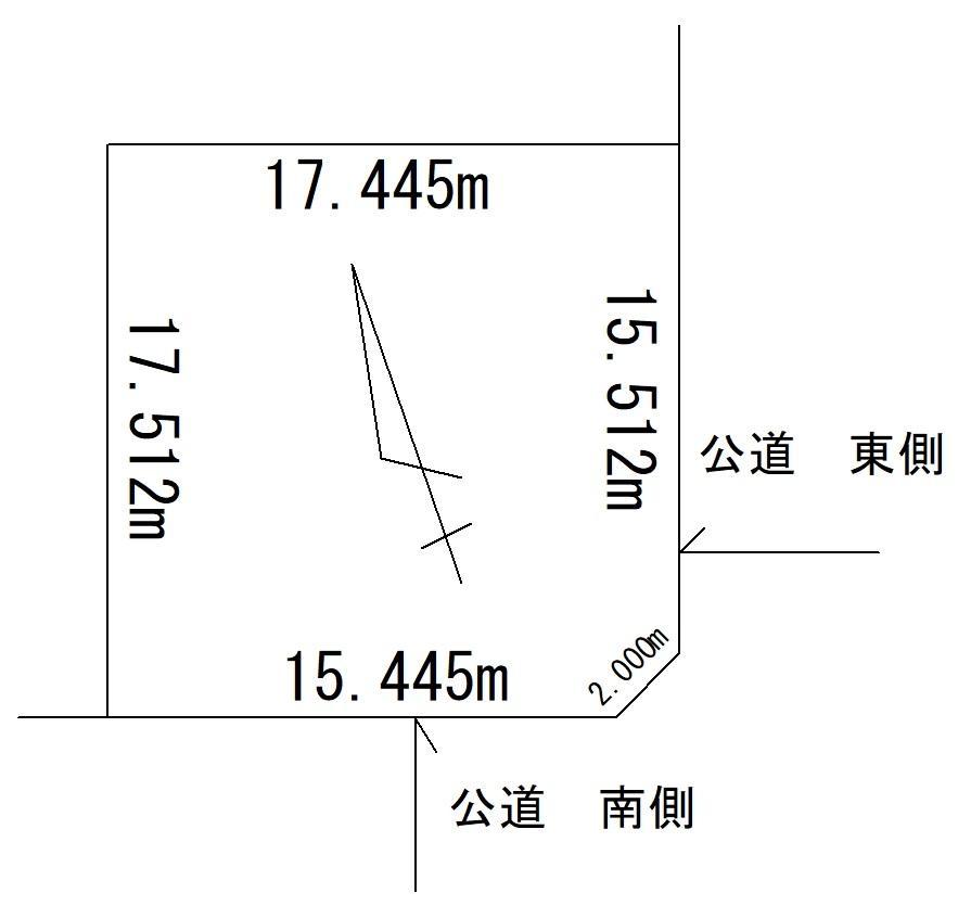 土地価格650万円、土地面積303.49m<sup>2</sup>