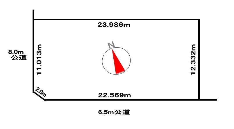 土地価格190万円、土地面積295.95m<sup>2</sup>