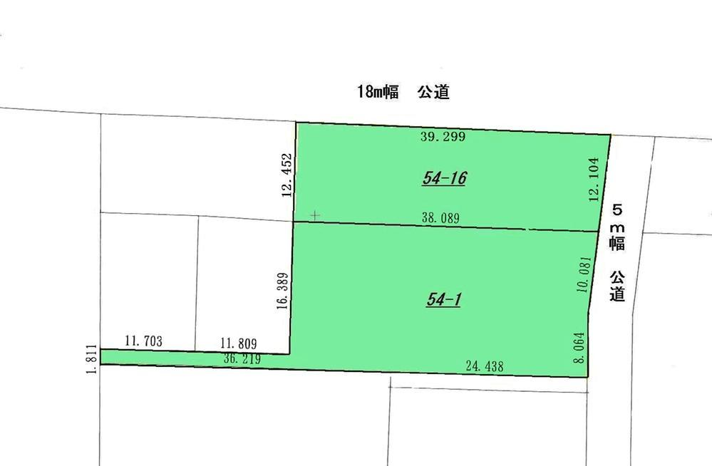 土地価格1740万円、土地面積1,197.49m<sup>2</sup>