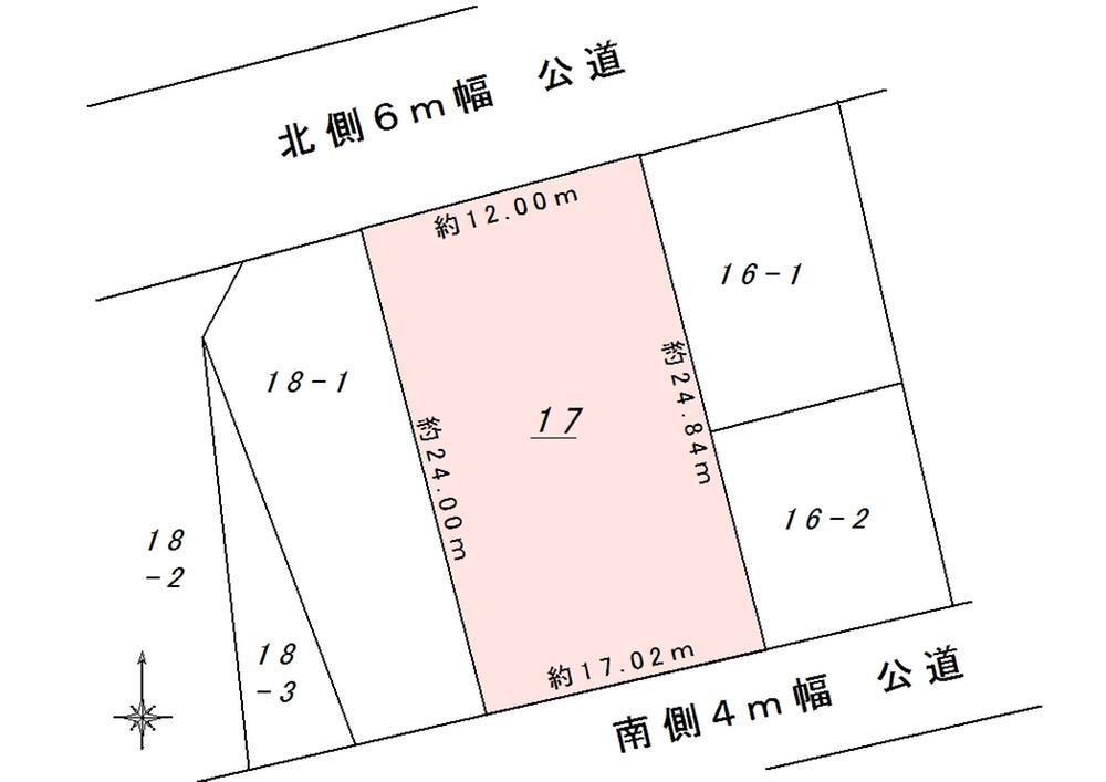 土地価格100万円、土地面積274.38m<sup>2</sup>