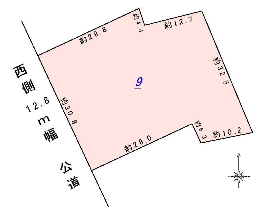 土地価格1410万円、土地面積402.63m<sup>2</sup>