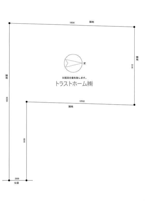 土地価格280万円、土地面積150.18m<sup>2</sup> 図面