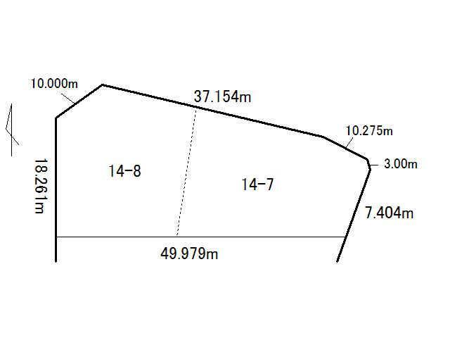 土地価格524万円、土地面積962.58m<sup>2</sup>