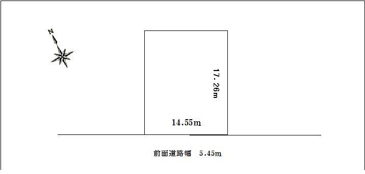 土地価格50万円、土地面積251.13m<sup>2</sup>