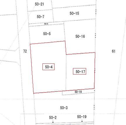 土地価格300万円、土地面積795.07m<sup>2</sup> 公図