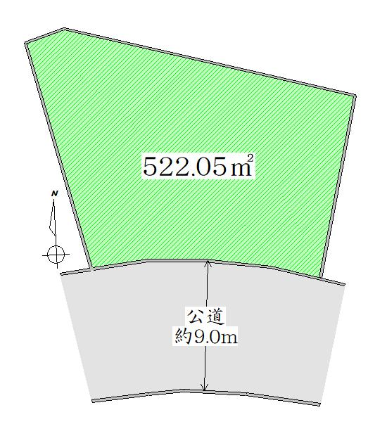 土地価格1895万円、土地面積522.05m<sup>2</sup> 区画図<BR>広々敷地面積約157坪以上!<BR>「建築条件なし」お好きなハウスメーカーで建築できます♪