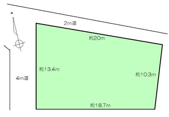 土地価格195万円、土地面積231.45m<sup>2</sup>