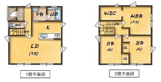 建物プラン例 建物価格1078万円、建物面積91.91m<sup>2</sup>