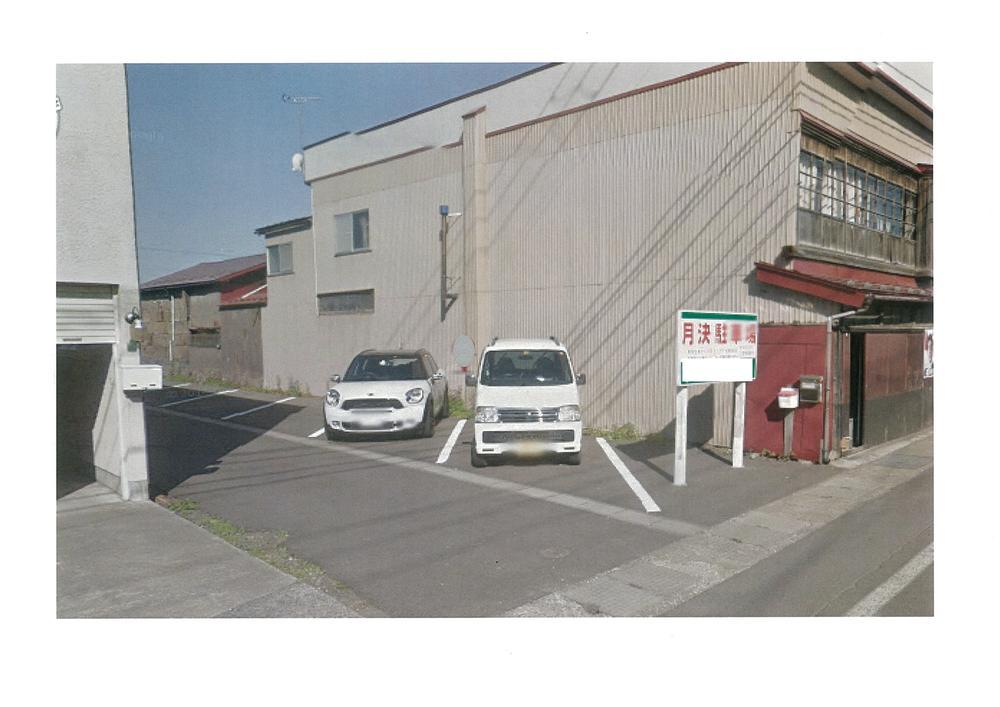 現在、月極駐車場として利用中。