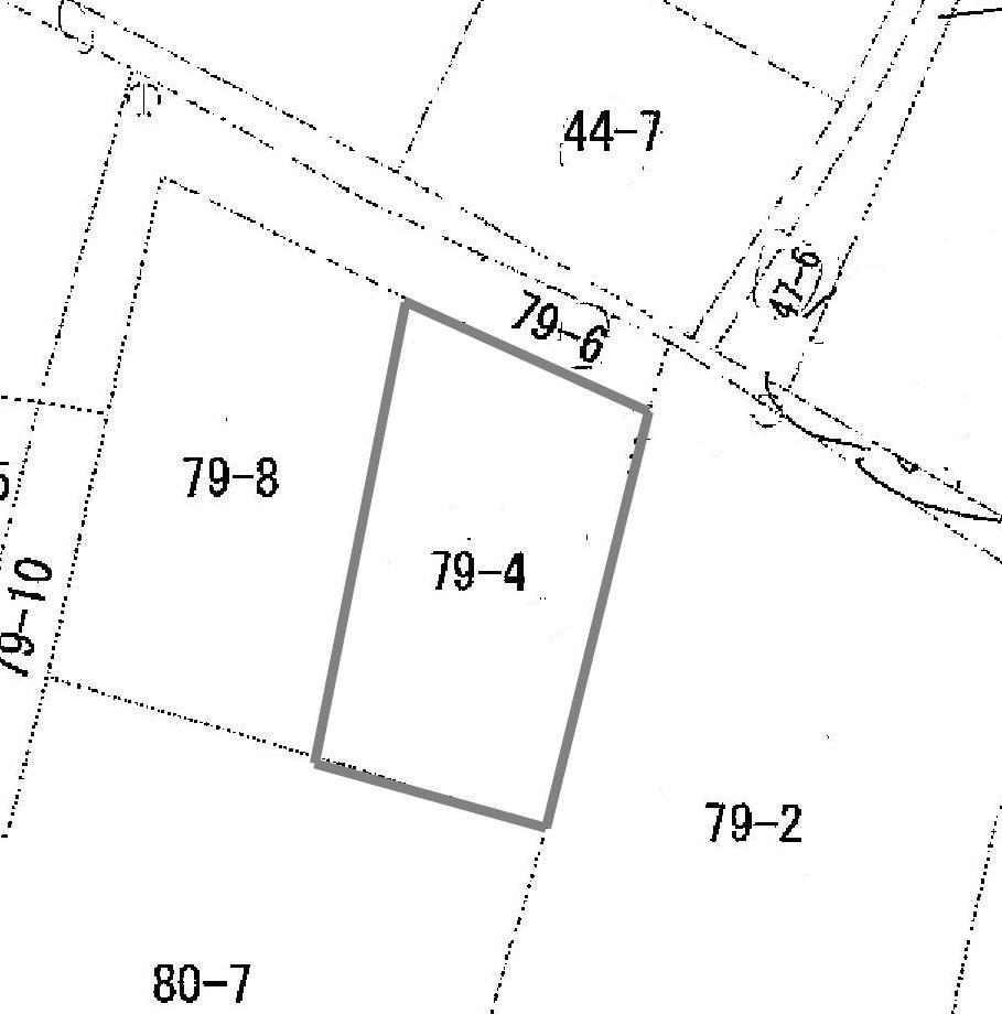 土地価格320万円、土地面積177.25m<sup>2</sup> 公図