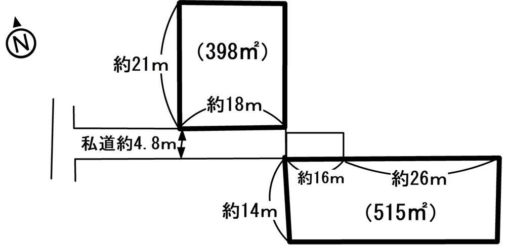 土地価格395万円、土地面積913m<sup>2</sup>
