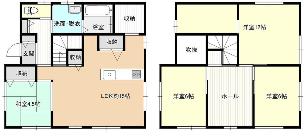 2490万円、4LDK、土地面積193.25m<sup>2</sup>、建物面積105.99m<sup>2</sup>