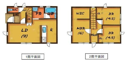 建物プラン例3LDK 建物価格898万円、建物面積78.07m<sup>2</sup>