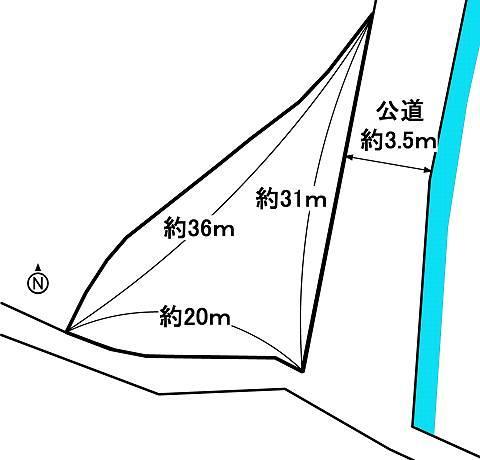 土地価格750万円、土地面積413m<sup>2</sup>