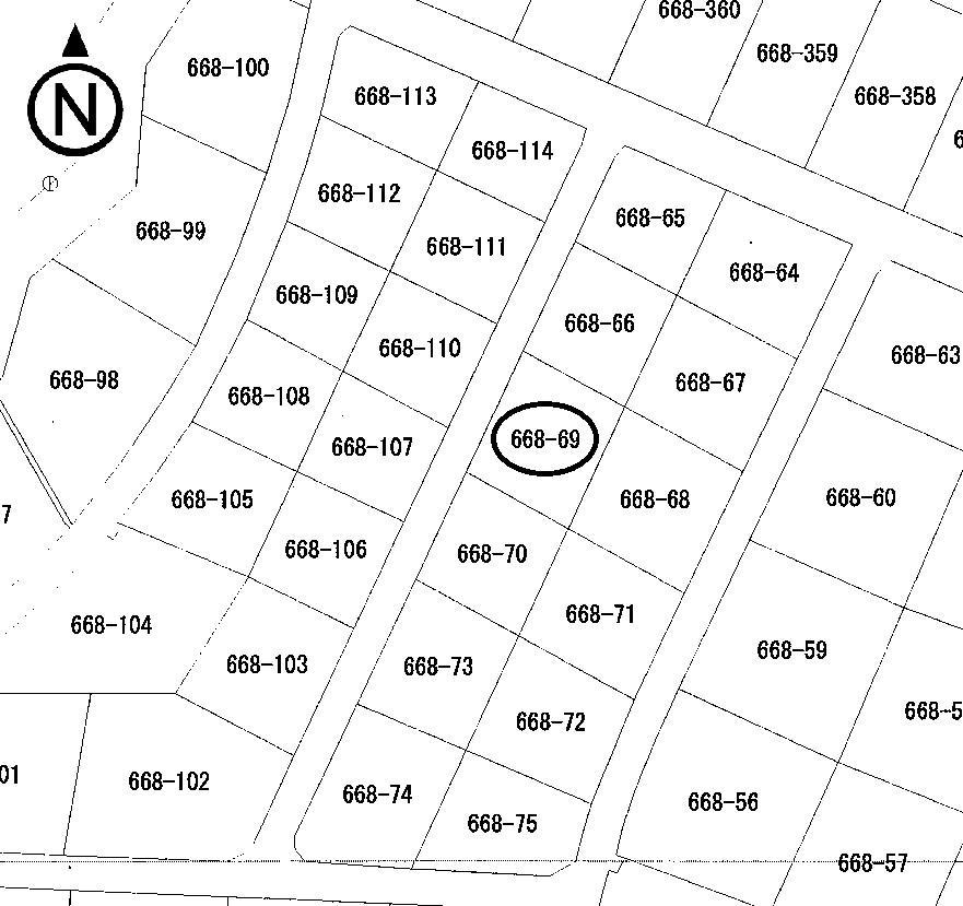 土地価格230万円、土地面積447m<sup>2</sup>