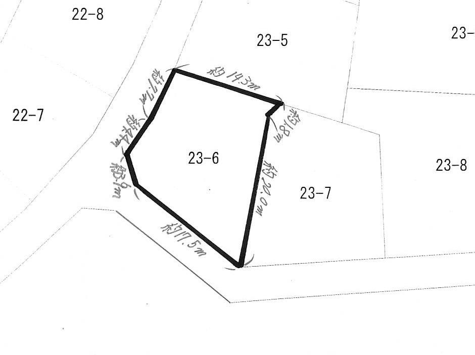 土地価格574万円、土地面積274m<sup>2</sup> 概略図