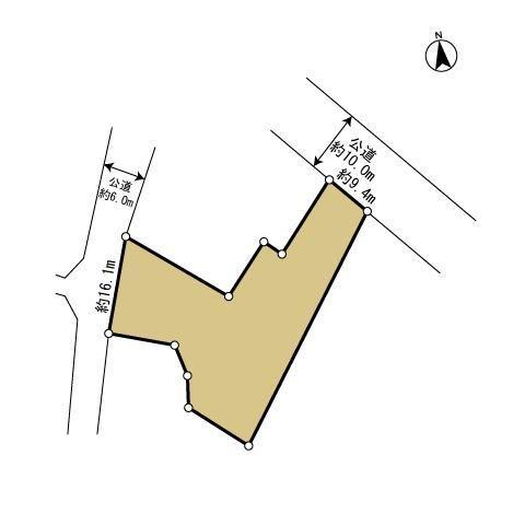 土地価格2500万円、土地面積807.82m<sup>2</sup> 【地型図】