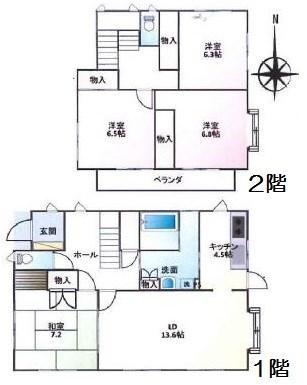 2000万円、4LDK、土地面積173.26m<sup>2</sup>、建物面積129.18m<sup>2</sup>