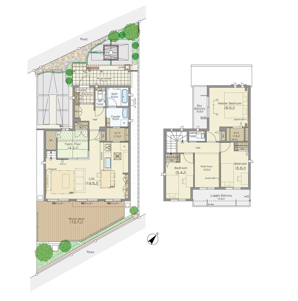 (2-8号棟)、価格 未定 、4LDK、土地面積154.14m<sup>2</sup>、建物面積115.31m<sup>2</sup>