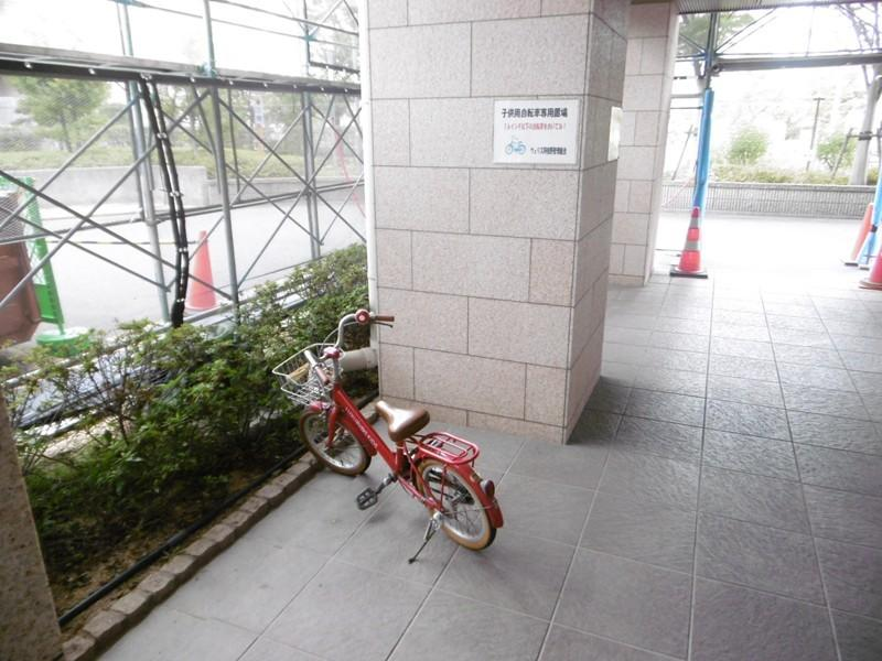 子供専用自転車置場