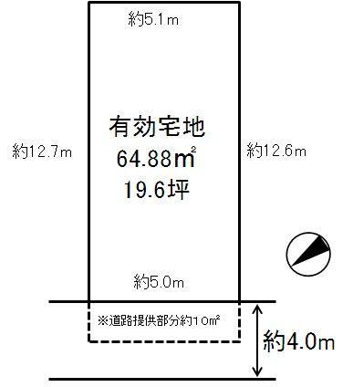 土地価格350万円、土地面積64.88m<sup>2</sup>
