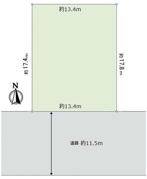 土地価格7980万円、土地面積237m<sup>2</sup>