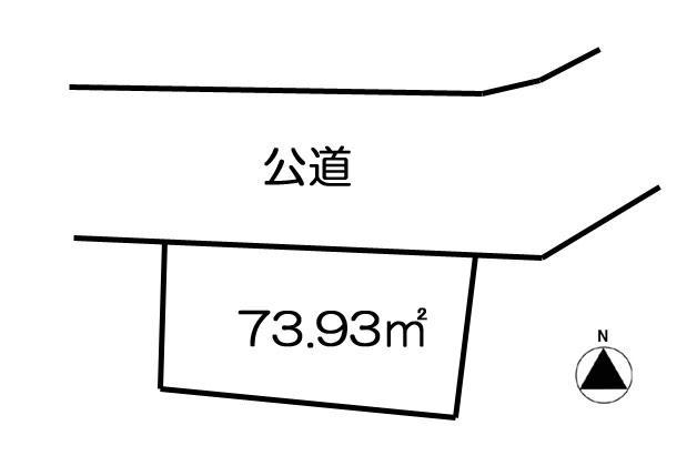 土地価格550万円、土地面積73.93m<sup>2</sup> 地形図