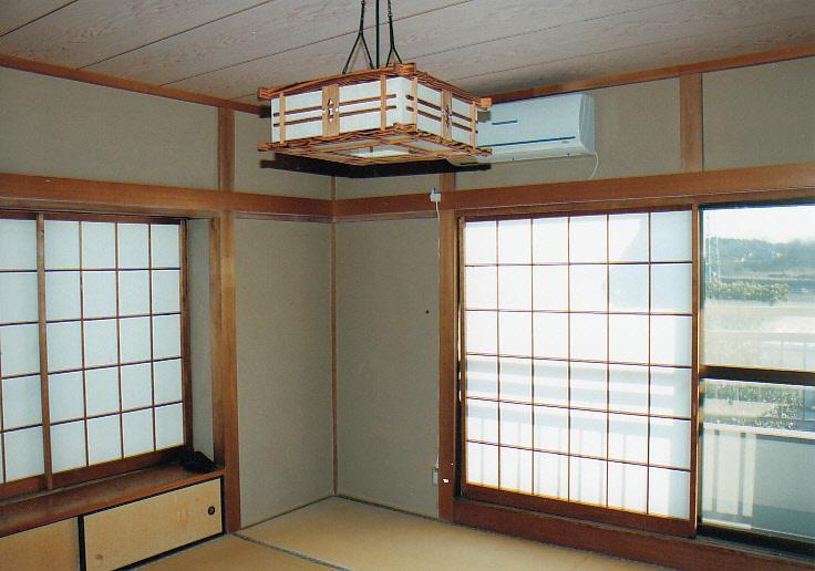 東南角部屋で明るい和室