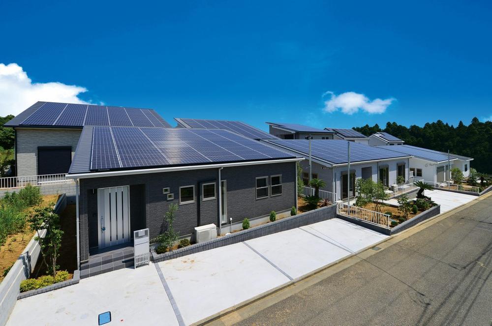 施工例:太陽光発電搭載の家(平屋)