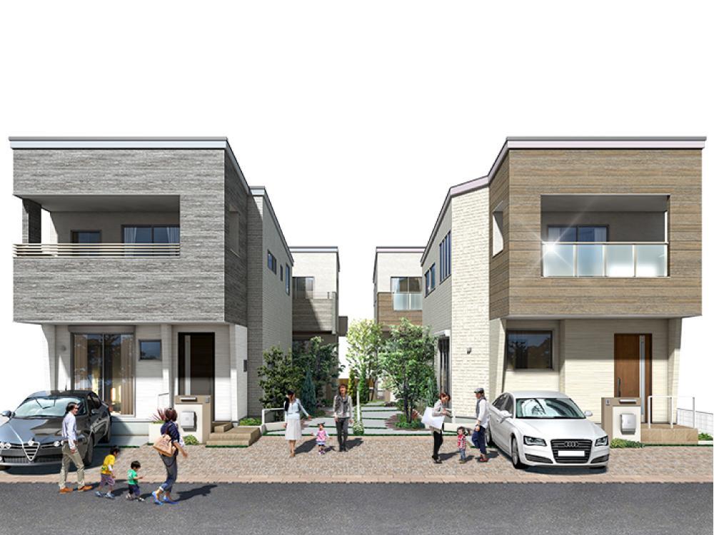 「みずほ台」駅徒歩4分の利便性に優れた立地。4邸それぞれの個性が際立つ邸別設計。