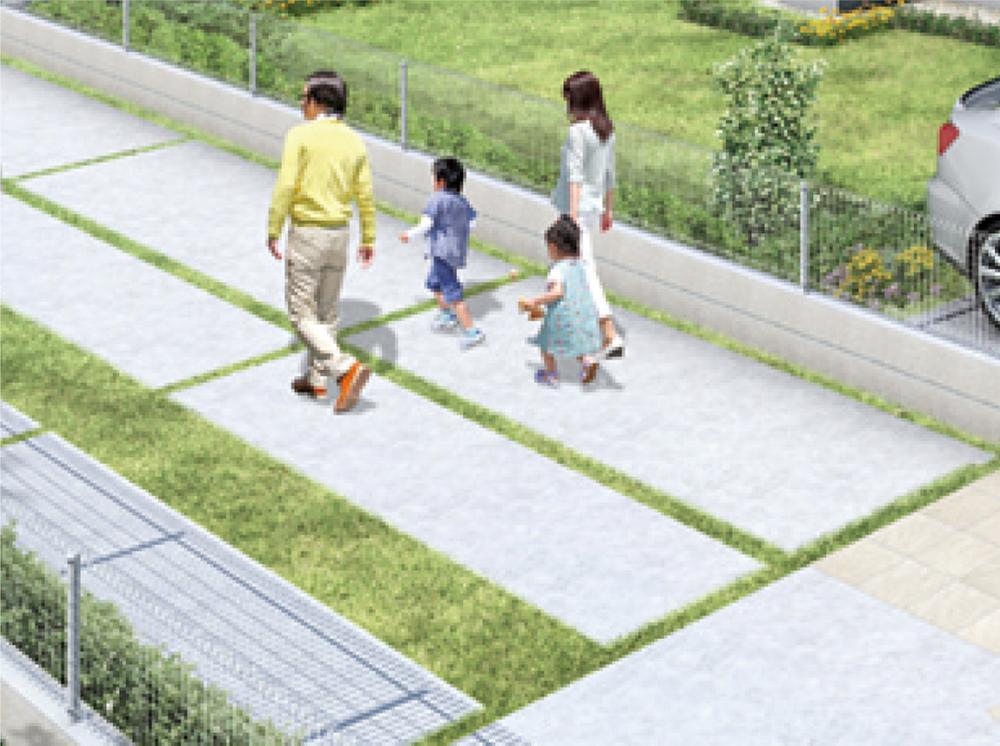 デザイン性の高いエクステリアと癒やしを感じさせる緑豊かな植栽を標準仕様としています。