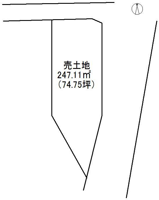 土地価格2400万円、土地面積247.11m<sup>2</sup> 区画図