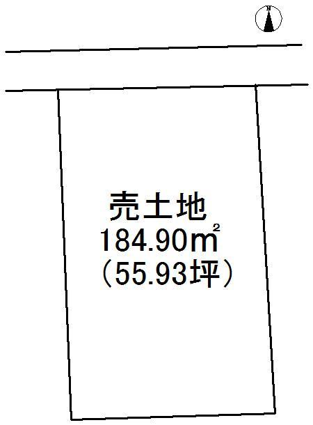 土地価格1023万5000円、土地面積184.9m<sup>2</sup> 区画図