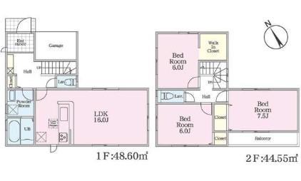 3480万円、3LDK、土地面積101.45m<sup>2</sup>、建物面積92.61m<sup>2</sup>