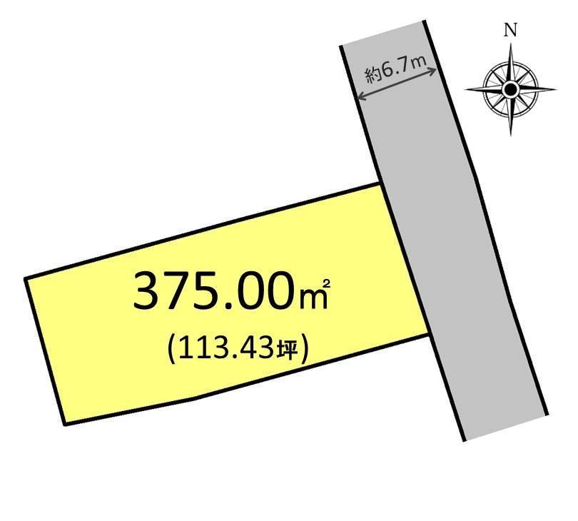 土地価格700万円、土地面積375m<sup>2</sup>