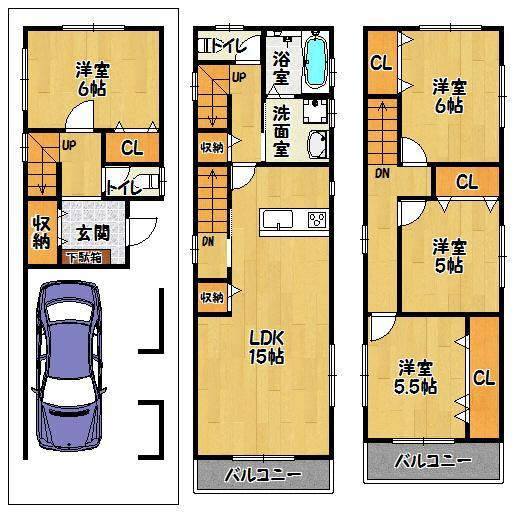 土地価格1180万円、土地面積67.6m<sup>2</sup>