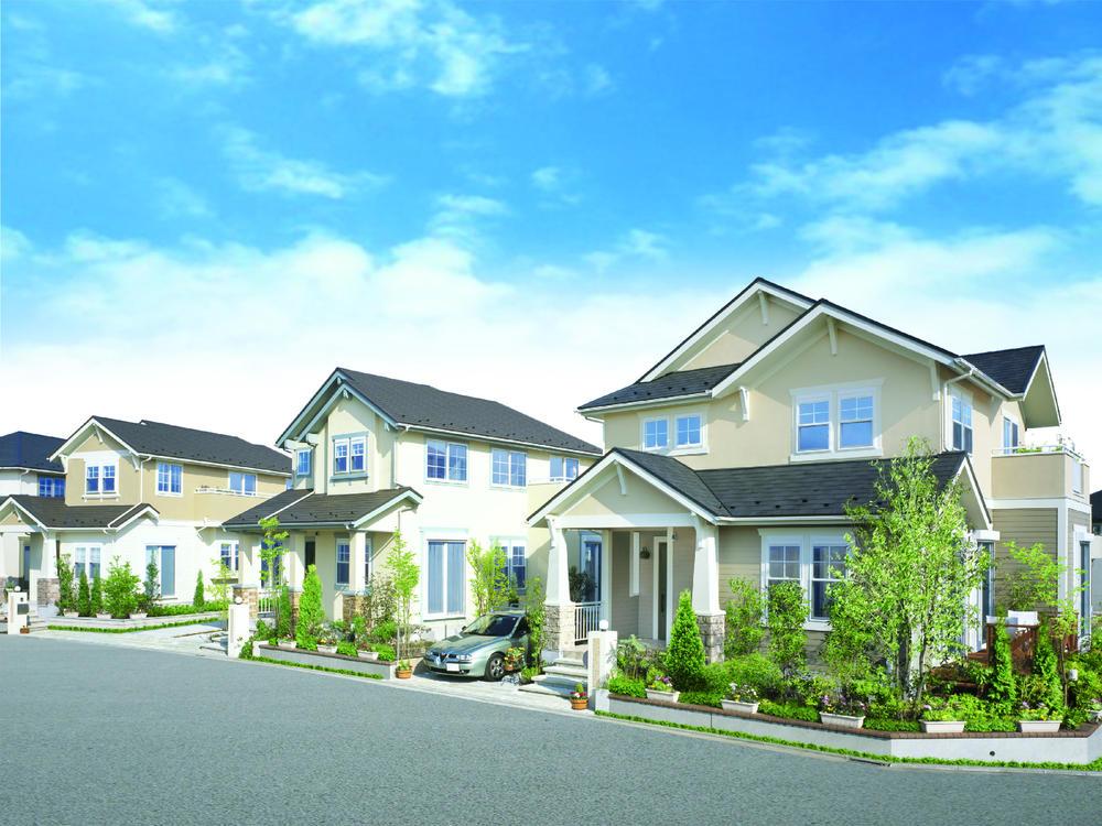 住戸は、耐久性・断熱性・耐火性・均一性など住宅性能の高い、2×4工法を採用しました。