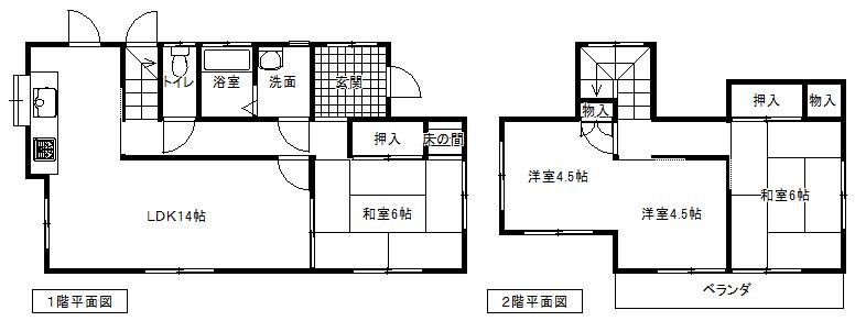 880万円、4LDK、土地面積211.5m<sup>2</sup>、建物面積85.91m<sup>2</sup>