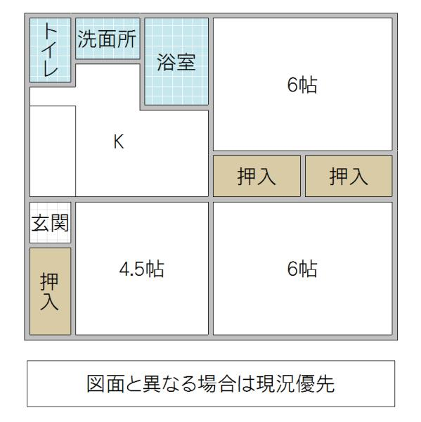 680万円、3DK、土地面積415.9m<sup>2</sup>、建物面積46.37m<sup>2</sup>