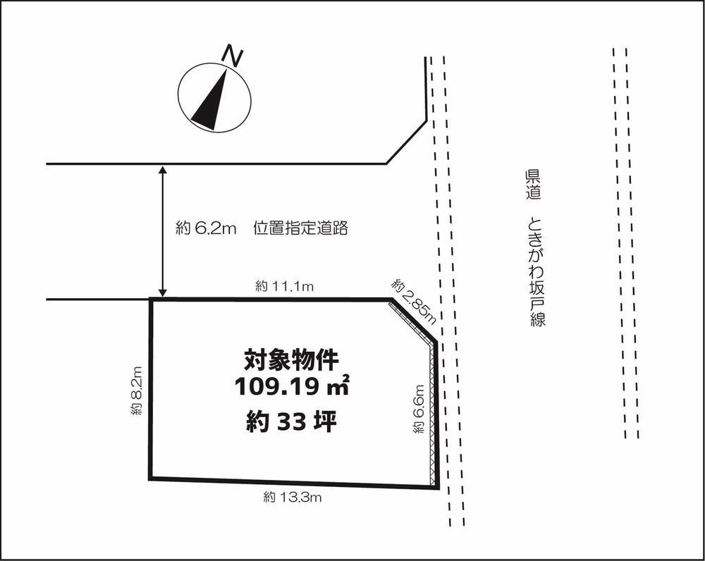 土地価格390万円、土地面積110m<sup>2</sup>