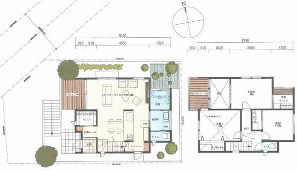 建物プラン例 建物価格1,680万円、建物面積87.35m<sup>2</sup>
